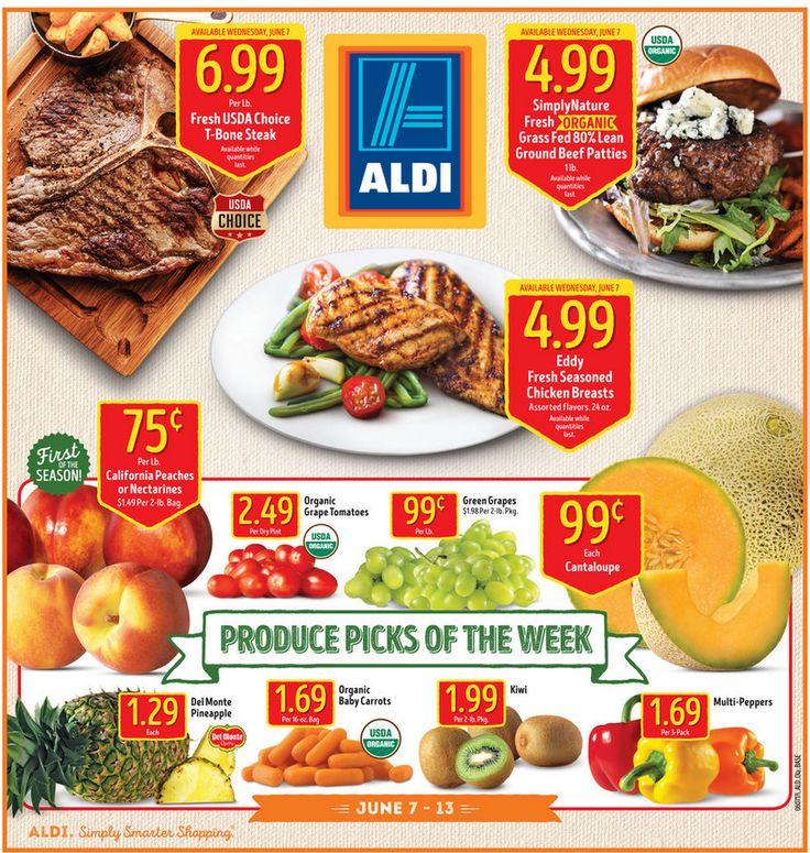 Aldi Weekly Ad June 7 - 13, 2017 - http://www.olcatalog.com/grocery/aldi-ad.html
