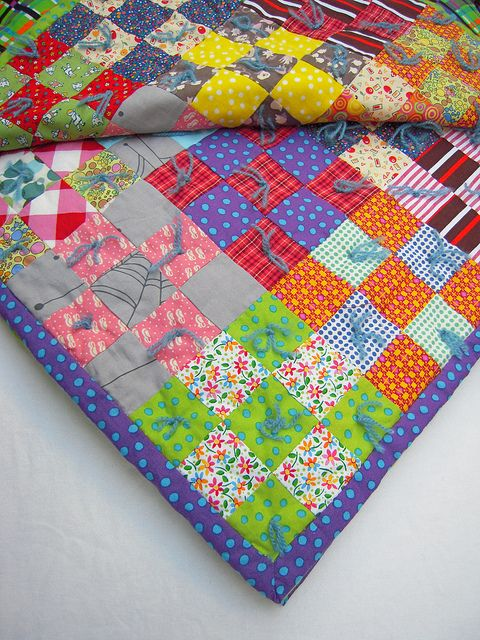 65 best Tied Quilts images on Pinterest | Embroidery, Craft and ... : how to hand tie a quilt - Adamdwight.com