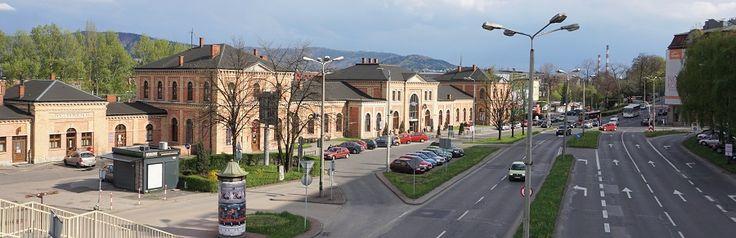 Railway Station in Bielsko-Biala, Poland