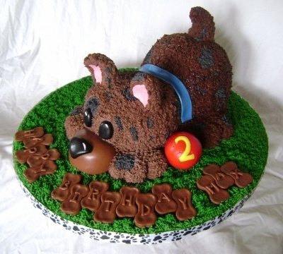 Puppy Birthday Cake By eatCakes on CakeCentral.com