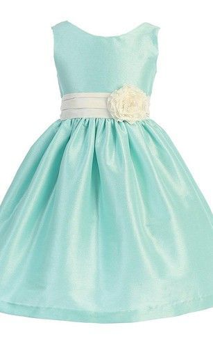 b58ca80f11a Sleeveless A-line Flower Girl Dress With Pleats and Flower   FlowerGirlDresses Ad