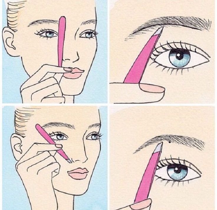 Top 10 Best Beauty Secrets and Tips of All Time. Plucking Eyebrows Accurately.