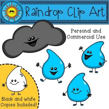 Raindrop Clip Art by Deeder Do!