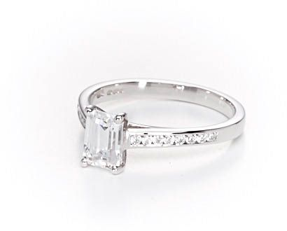 Beautiful handmade diamond band engagement rings from 77 Diamonds. A delicate selection of engagement rings featuring diamond set shoulders for that extra sparkle and wonder for your engagement ring.