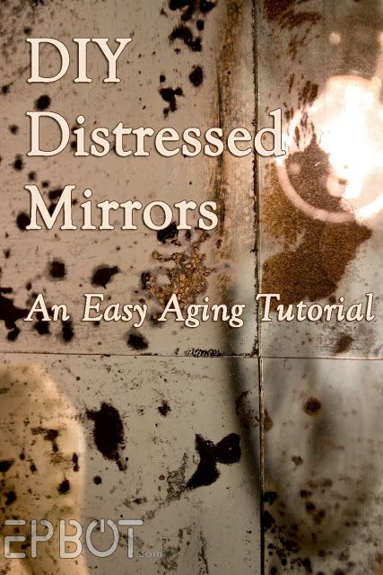"""EPBOT: DIY Antiqued Mirror Wall Panels (Or, """"Fun With Muriatic Acid!"""")"""