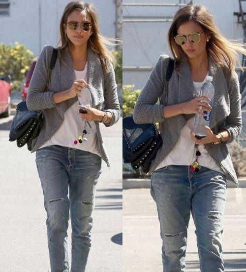 Jessica Alba street style (September 2014). #jessicaalba