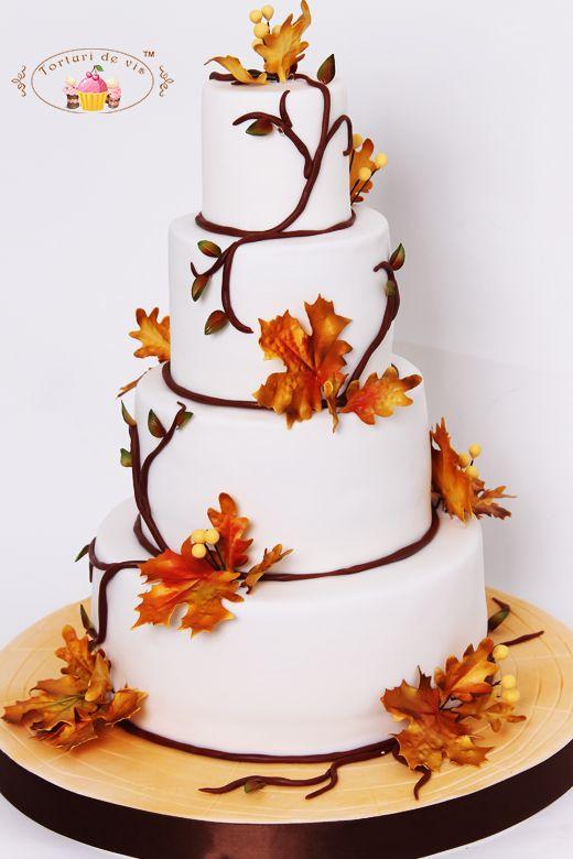 Torturi - Viorica's cakes: Tort nunta Rapsodie de toamna