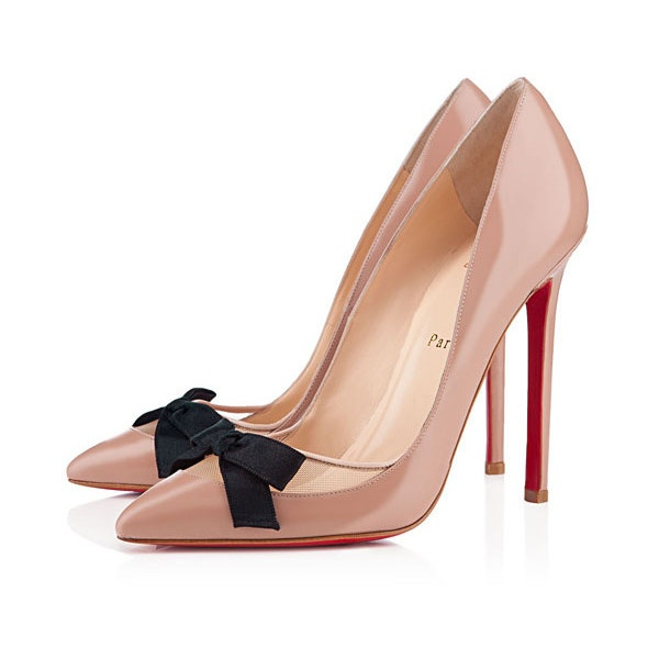 Christian Louboutin Love Me 120mm Patent Leather Pumps Nude,Red... ❤ liked