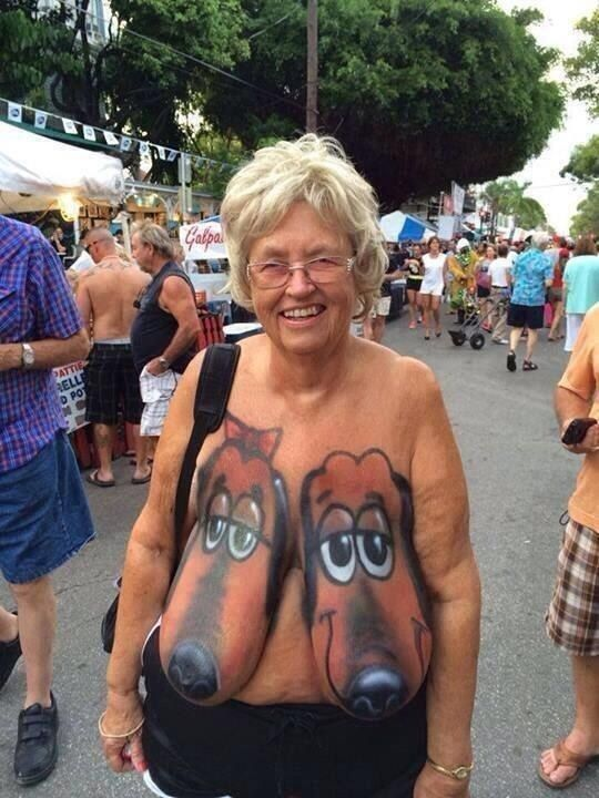 grandma with tattoo fucking