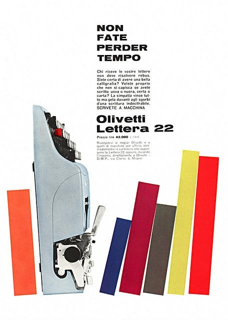 designed by Giovanni Pintori for the Olivetti Lettera 22