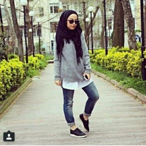casual sporty hijab, Hijab trends 2016 http://www.justtrendygirls.com/hijab-trends-2016/