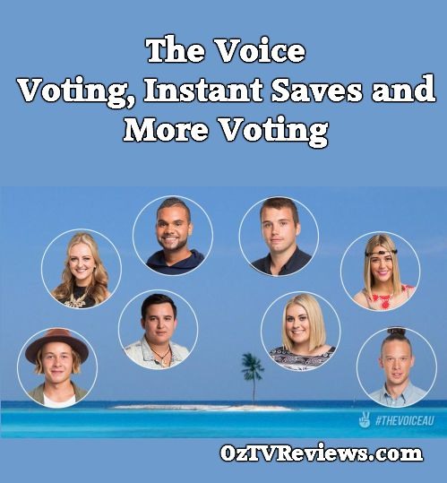 The Voice Live Show No.4 featured Voting, Instant Saves and More Voting.  #VoiceLives #TheVoiceAU  Check out our review at http://oztvreviews.com/2015/08/the-voice-live-show-no-4/