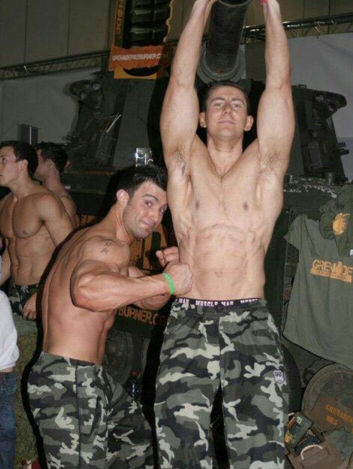 Muscle guys in uniform fucking