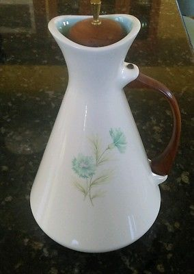 Vintage Taylor Smith Taylor Ever Yours Boutonniere Carafe Wood Handle Excellent in Pottery & Glass, Pottery & China, China & Dinnerware | eBay