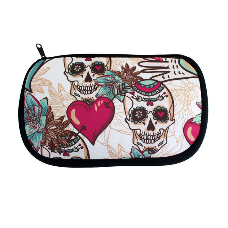 Purple Leopard Boutique - Skulls and Hearts Floral Design Cosmetic Bag, $19.00 (http://www.purpleleopardboutique.com/skulls-and-hearts-floral-design-cosmetic-bag/)