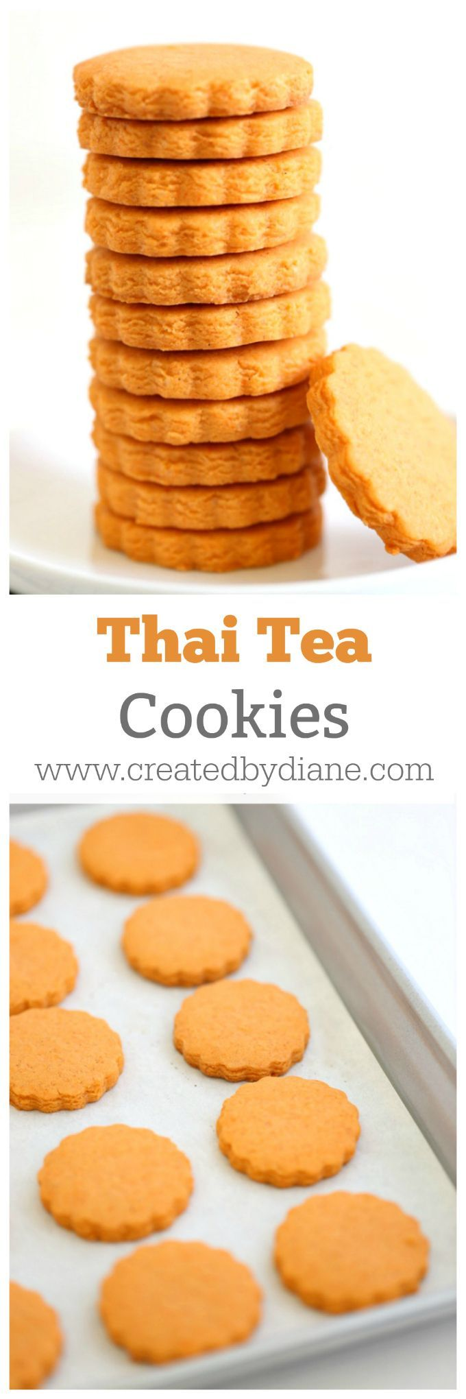 Thai Tea Cookie Recipe Easy and Delicious Cookie www.createdbydiane.com