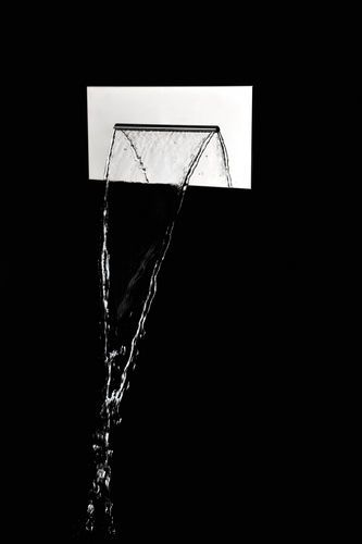 Soffione doccia a parete / rettangolare / fisso ALMENOINDUE ad incasso a cascata Ritmonio Rubinetterie  Srl