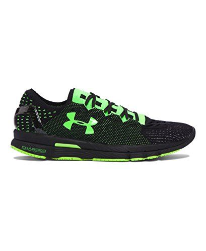 Under Armour Mens UA SpeedForm Slingshot Neon Running Shoes 15 Black >>> Click image to review more details.