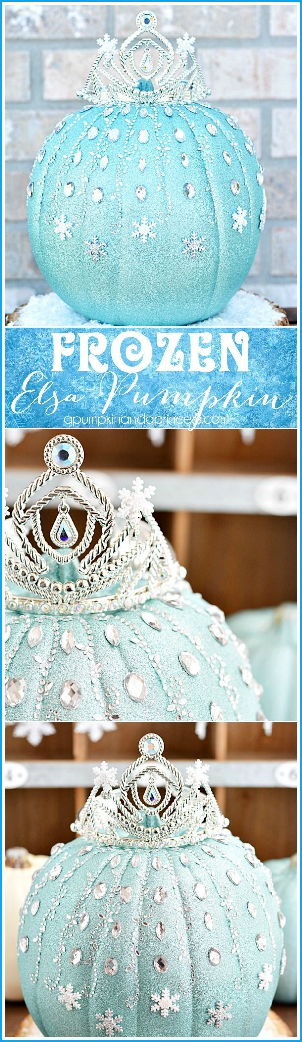 Disney Frozen Elsa Pumpkin #MichaelsMakers