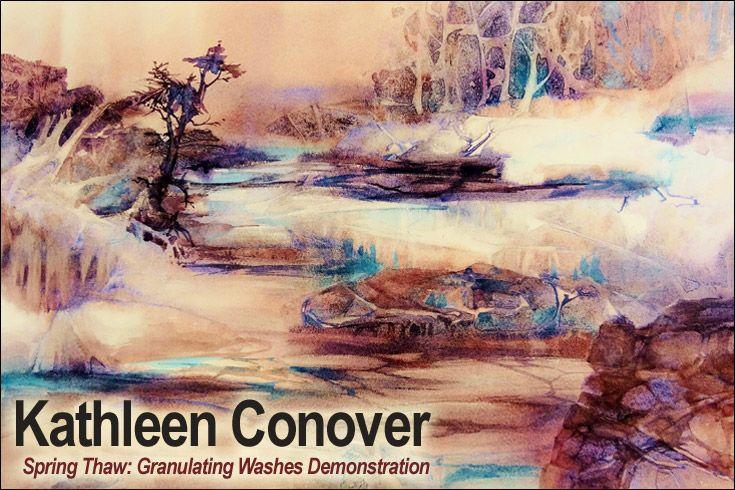 Kathleen Conover: Granulating Watercolors