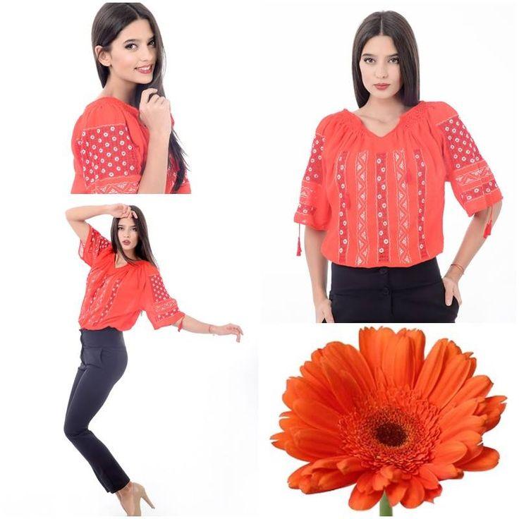 Color of the day<3 #romaniablouse #handembroidery #orangecanvas