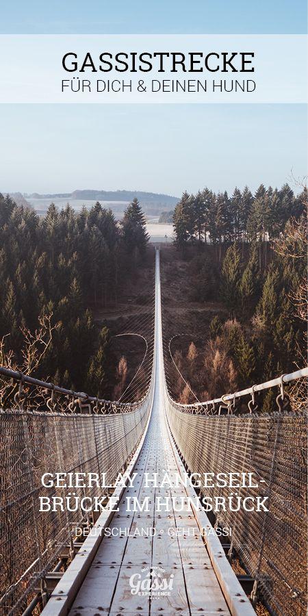 Unterwegs mit Deinem Hund. Tagesausflug zur Geierlay Hängeseilbrücke im Hunsrück.