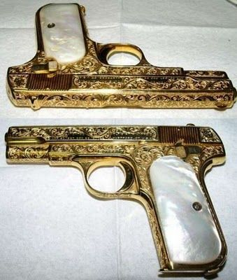 #gold and #marble #gun