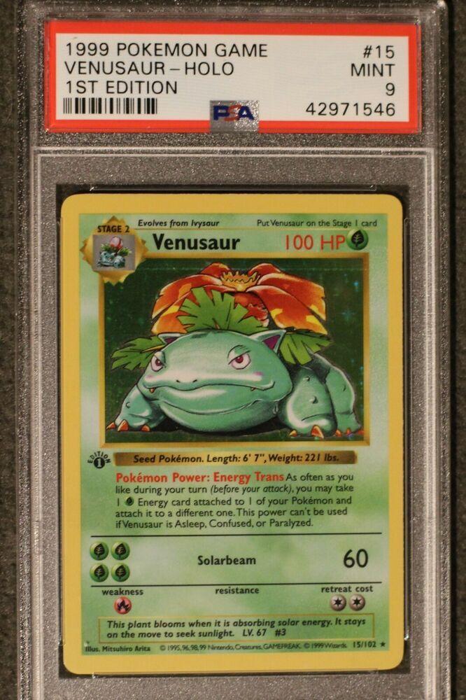 15//102 - Base Set Holo Pokemon USA Inc. Venusaur Pokemon