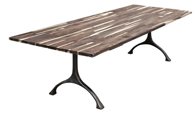 Jens table in striped mahogany from Norr11. http://www.norr11.com/en ...