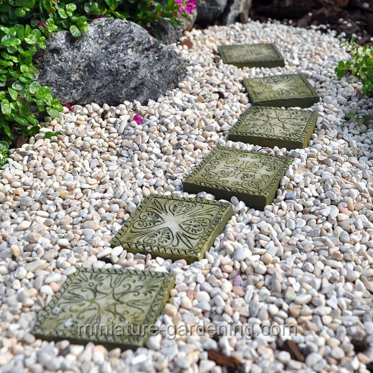 Stepping Stones For Miniature Gardens Miniaturegardening Fairy