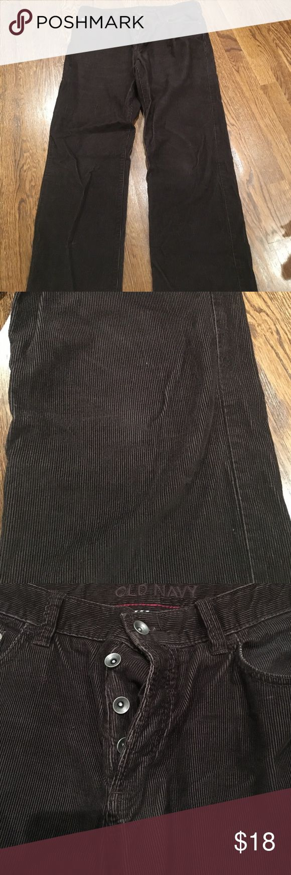 """Old navy men's corduroy pants Button fly. A small """"wear"""" spot on leg as seen in pic 2.  Straight cut. Machine washable Old Navy Pants Corduroy"""