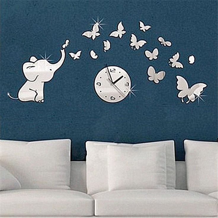Baby Elephant with butterfly friends mirror watch