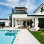 Chaise lounge outdoor pool contemporary with pool water fountain elevated spa