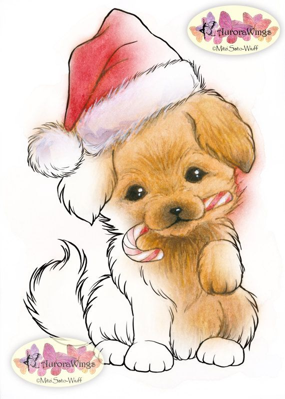Hey, I found this really awesome Etsy listing at https://www.etsy.com/listing/213525854/digital-stamp-christmas-puppy-with-santa
