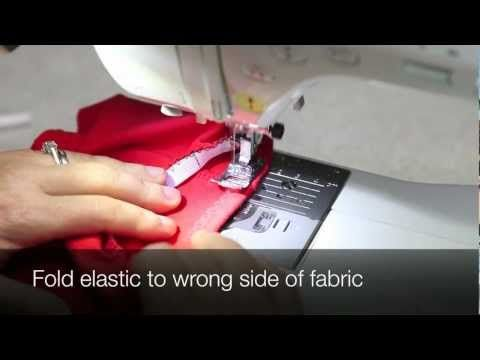 Jalie Sewing Techniques - How to Sew Elastics - YouTube