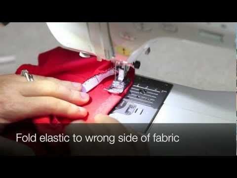 Elastiek aanzetten met de naaimachine