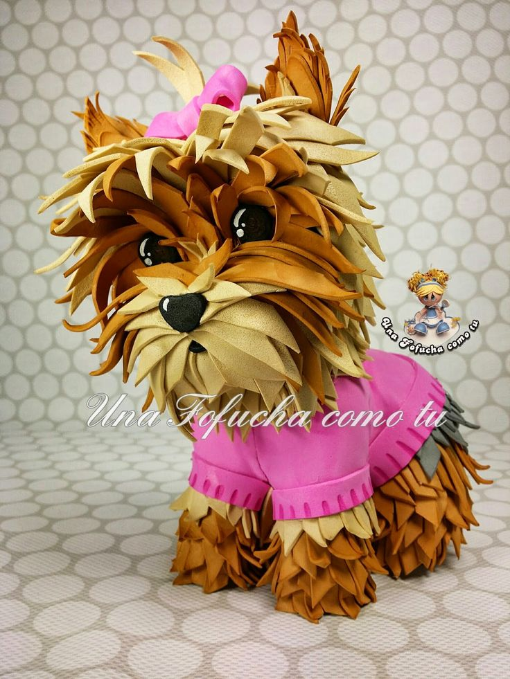 Mascota fofucha en goma eva. Perrito. https://www.facebook.com/UnaFofuchacomotu
