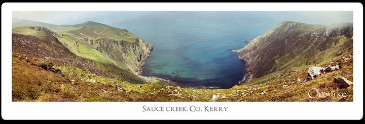 This panoramic is 4 different images stitched together, Co. kerry