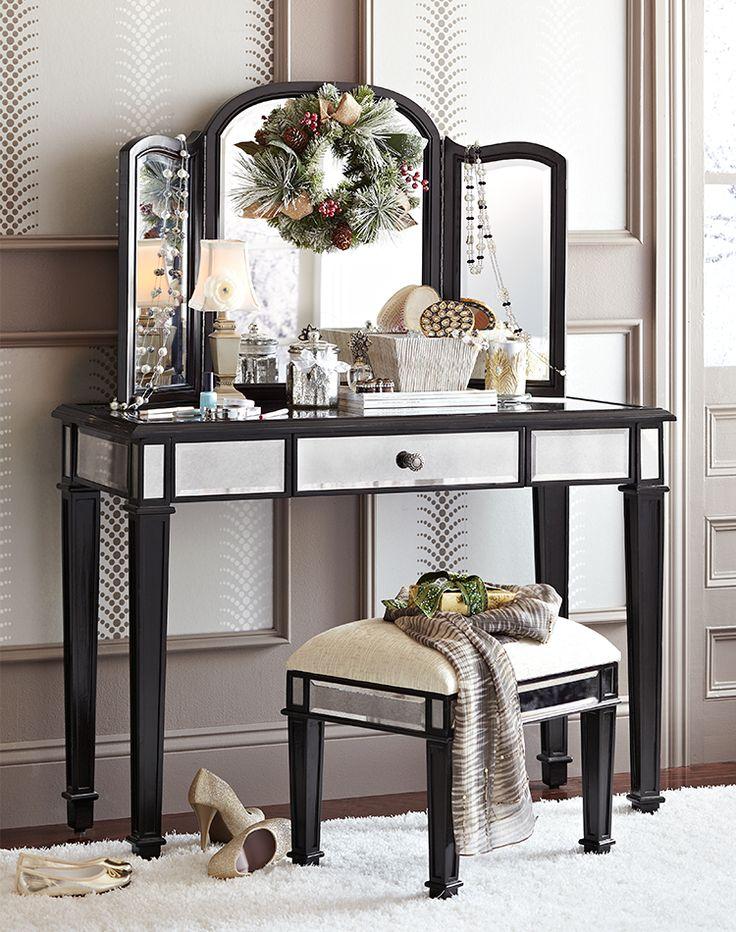 Hayworth Silver Mirror U0026 Vanity