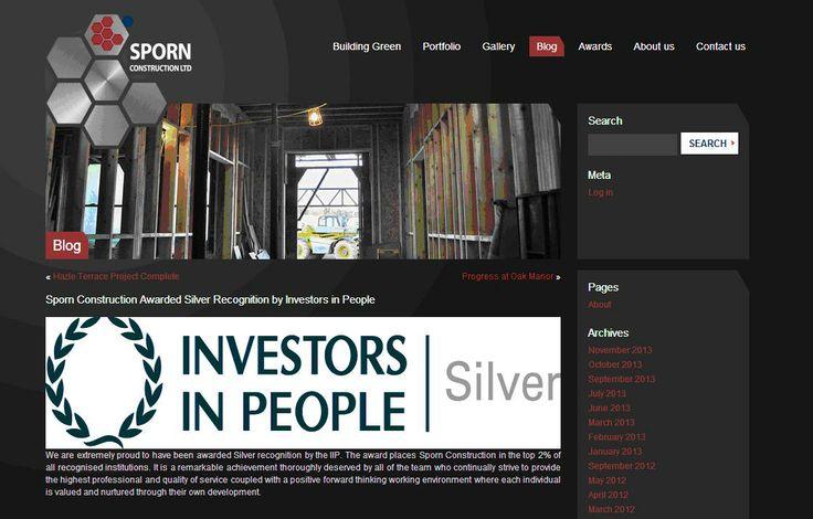 Sporn Construction awarded Silver IIP accreditation