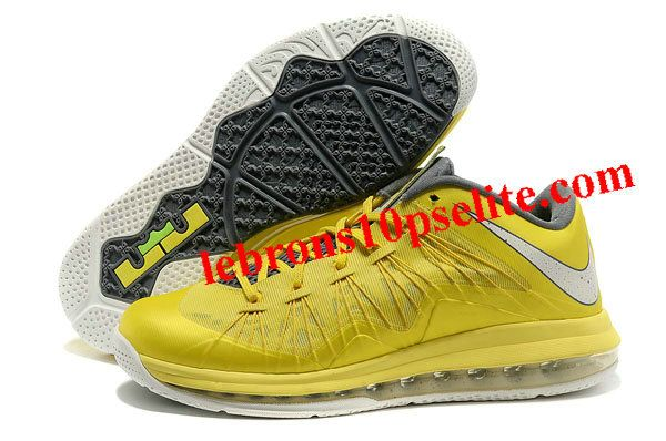 Nike Air Max Lebron X Low Yellow/Grey