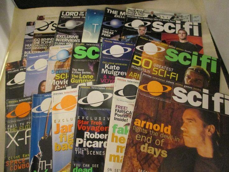 Scifi Channel Magazine Lot Of 18 Vols 6-9 Posters Star Trek X Files 1999-2003