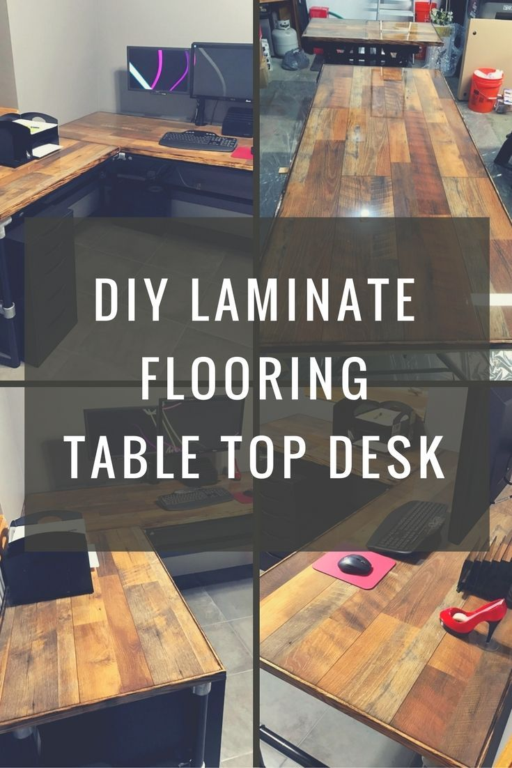Diy laminate flooring table top desk keeklamp diy