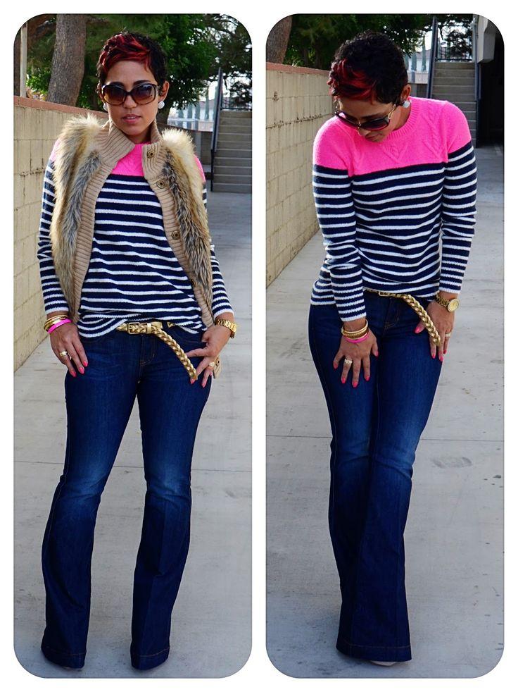 OOTD: Best Sweater Ever + Faux Furs + Wide Legs @ www.mimigstyle.com