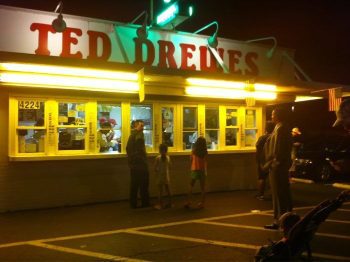 Ted Drewes Frozen Custard has three locations in the St. Louis area: 4224 S Grand Blvd., Saint Louis, MO 6726 Chippewa St., Saint Louis, MO 10701 Lambert International Blvd., Saint Louis, MO.