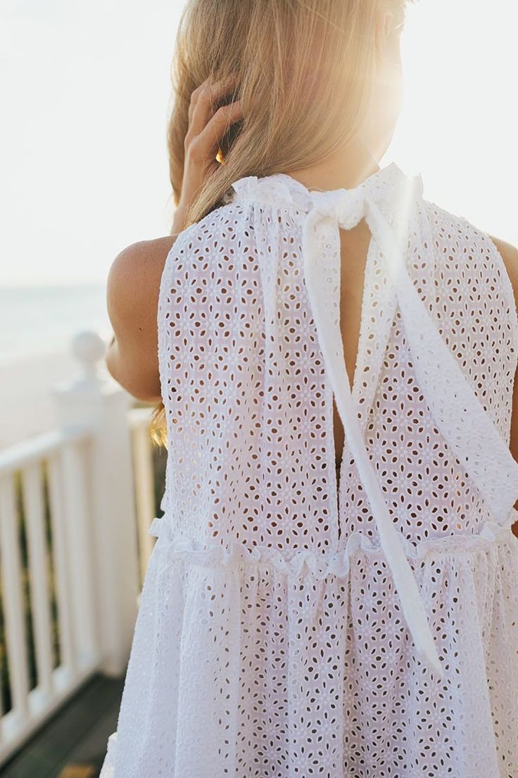 tiered eyelet dress || LonestarSouthern.com