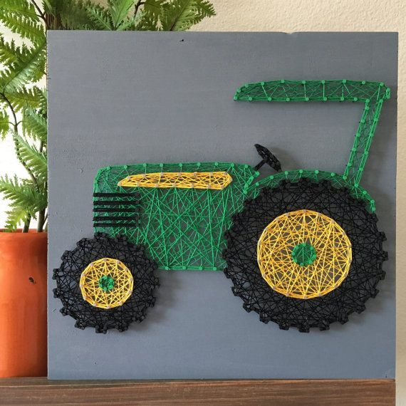 12 Tractor String Art