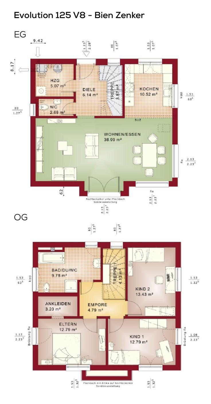 207 besten grundriss einfamilienhaus bilder auf pinterest for Grundriss einfamilienhaus 2 vollgeschosse