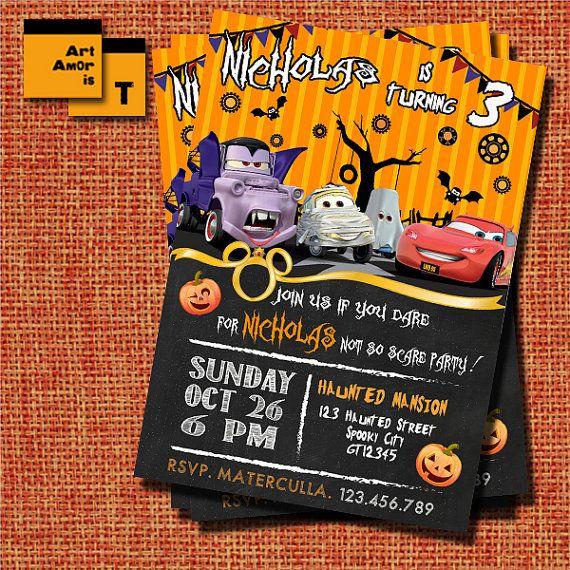 Cars halloween Invitation lightning mcqueen halloween by ArtAmoris