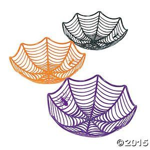 Plastic Spider Web Baskets Bowls 3 Pieces  Halloween Accessory  Fun Express *** To view further for this item, visit the image link.